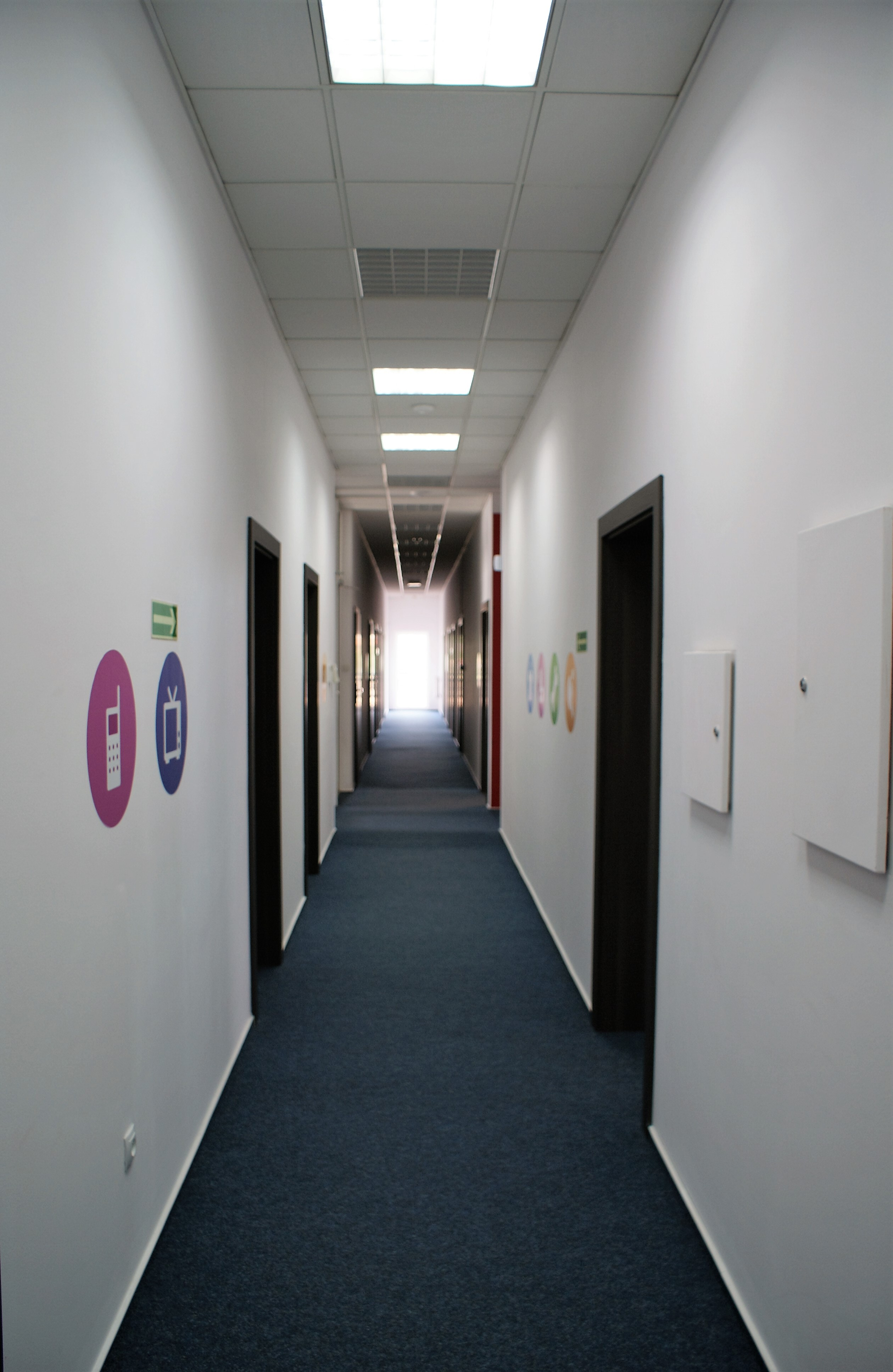 Aranżacja korytarzy w firmie
