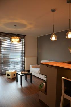 Salon w nowoczesnym mieszkaniu