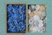 Blue Flowers/Shells (Detail)