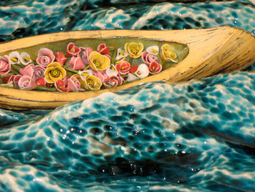 Canoe with Flowers (Detail)
