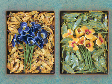 Spring and Fall Bouquets (Detail)