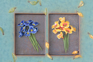 Blue and Yellow Bouquets II (Detail)