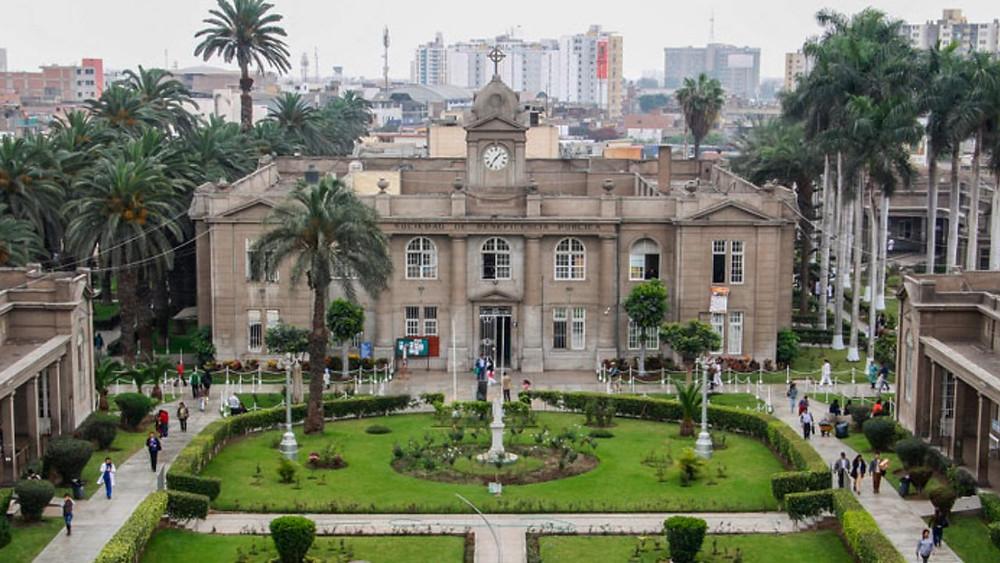 Old stone hospital in Peru
