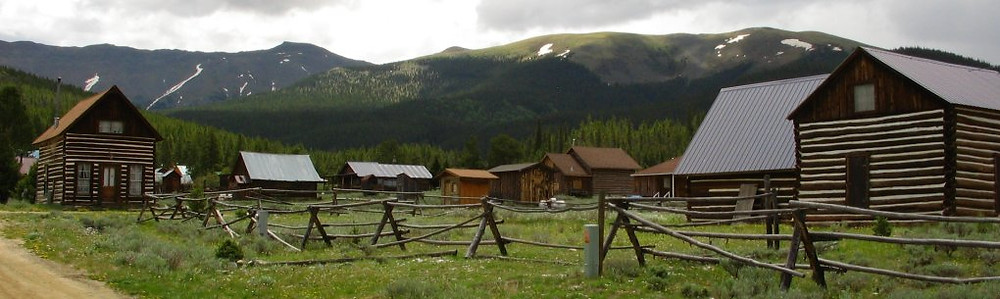 Historic mining town of Tin Cup in Colorado