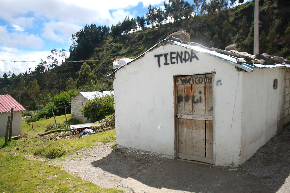 Closed store in the mountains.