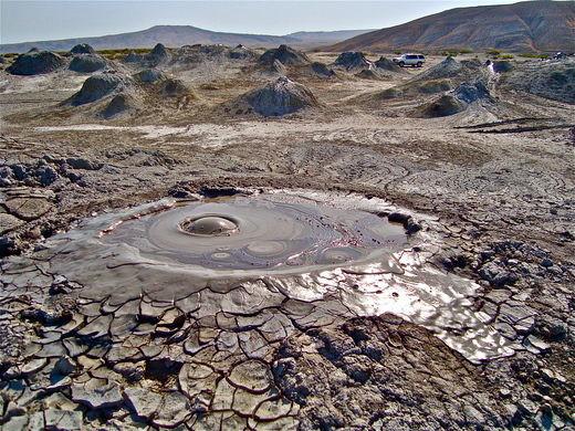 Mud landscape in Azerbaijan