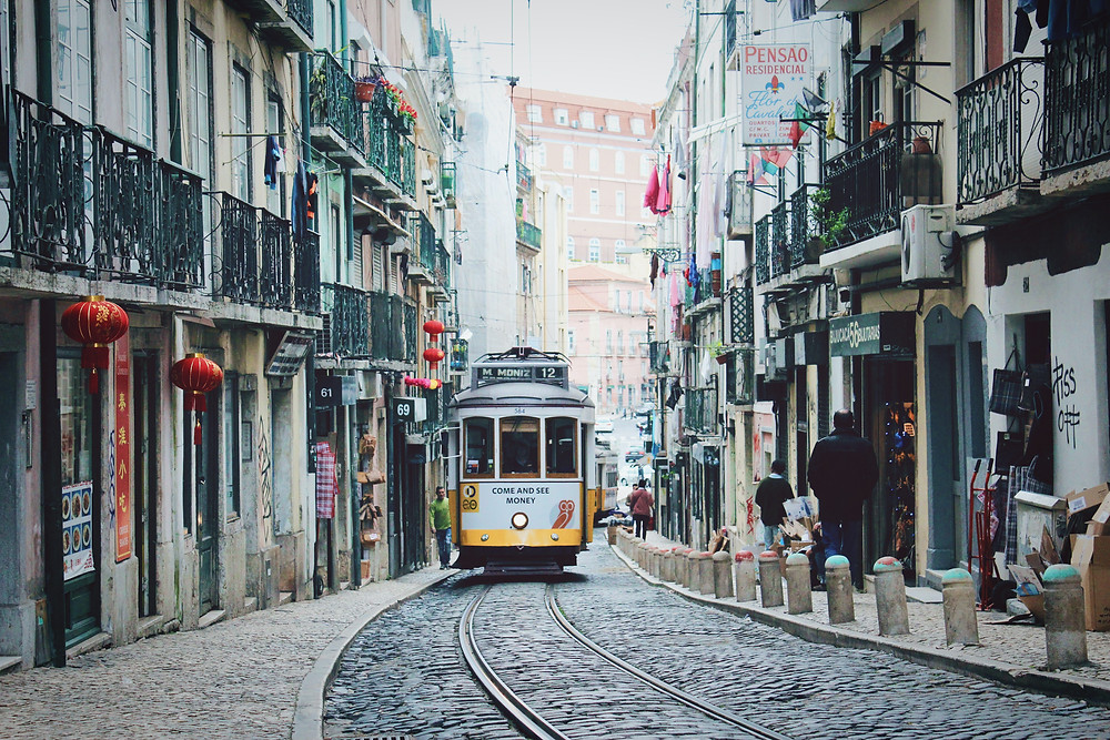 Cable car in Lisbon, Portugal