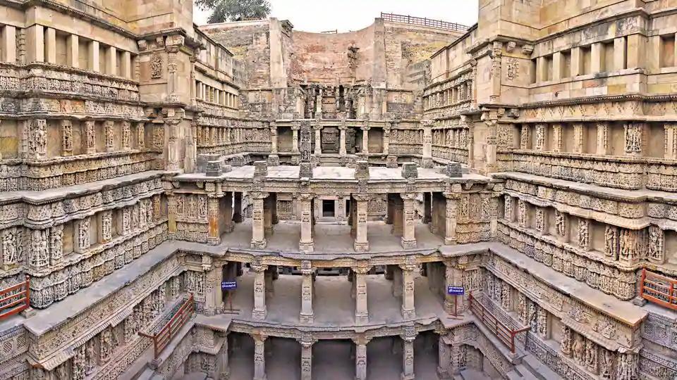 Ornate stepwell in India