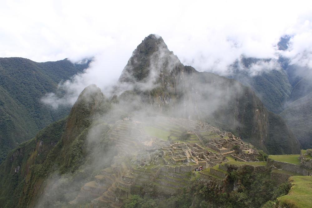 Machu Picchu in fog
