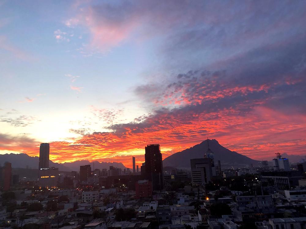 sunset, Monterrey