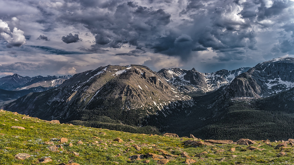 Mountain top views from alpine tundra