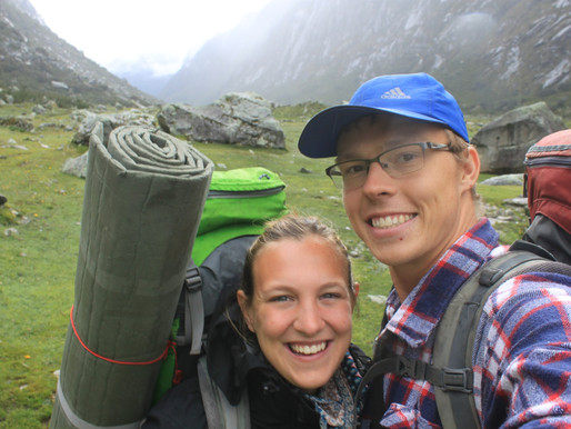 Trekking in the Andes of Peru