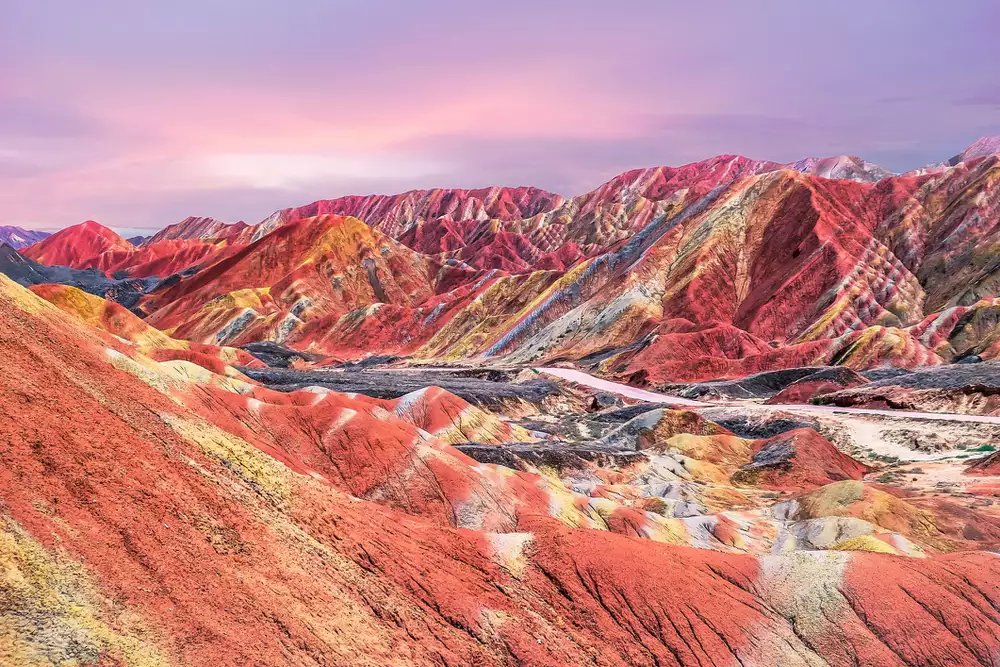 Colorful mountains of China