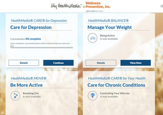 My HealthMedia Coaching Page