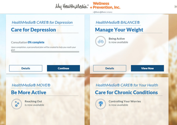 My HealthMedia Coaching Page