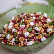 Rode bieten quinoa salade