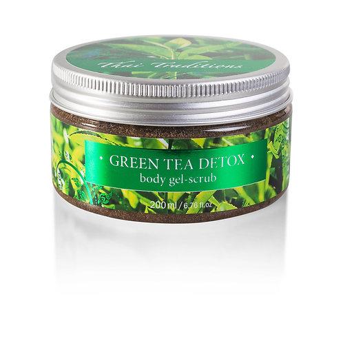 Скраб-гель для тела зеленый чай детокс Thai Traditions