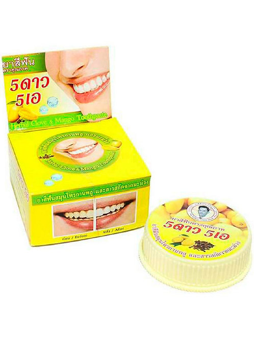 5 Star Cosmetic Травяная отбеливающая зубная паста с экстрактом Манго, 25 гр