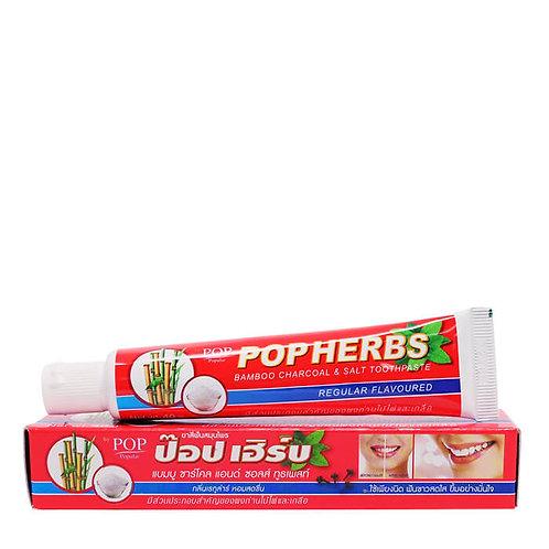 Растительная зубная паста с бамбуковым углем и солью POP Herbs Bamboo Charcoal &