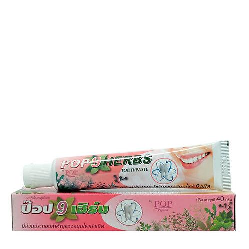 Растительная зубная паста 9 трав (в тубе 40 гр) POP 9 Herbs Toothpaste
