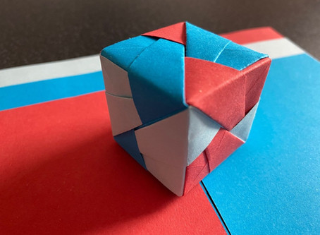 Making a cube using origami units