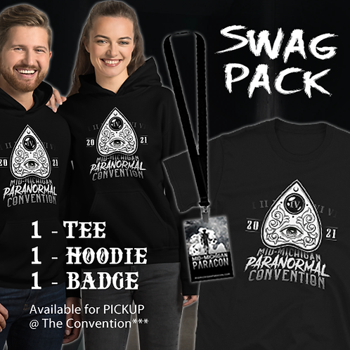Mid-Mich ParaCon IV SWAG PACK (T-Shirt, Hoodie, Badge)