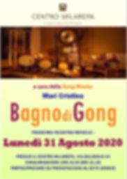 Volantino A5  Bagno di Gong 31 Agosto 20