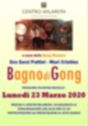 Volantino A5  Bagno di Gong 23 Marzo 202