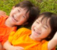 Happy Twins enjoying summer camps at Hickory Falls