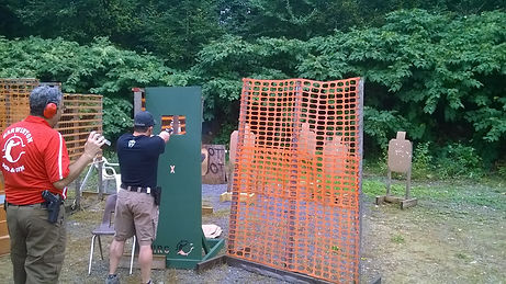 Man Shooting in IDPA match