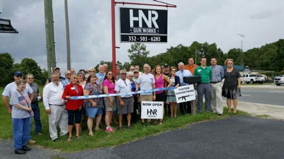 HNR Gunworks Ribbon Cuttin New Business Citrus County Chamber Ambasador