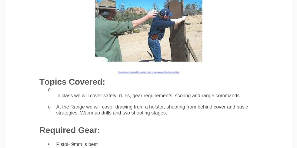 Intro to Competition Shooting Class