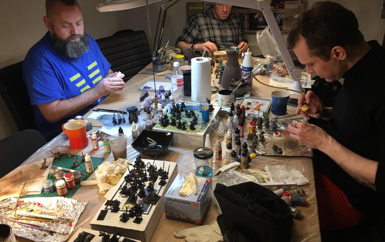 Batch paint workshop