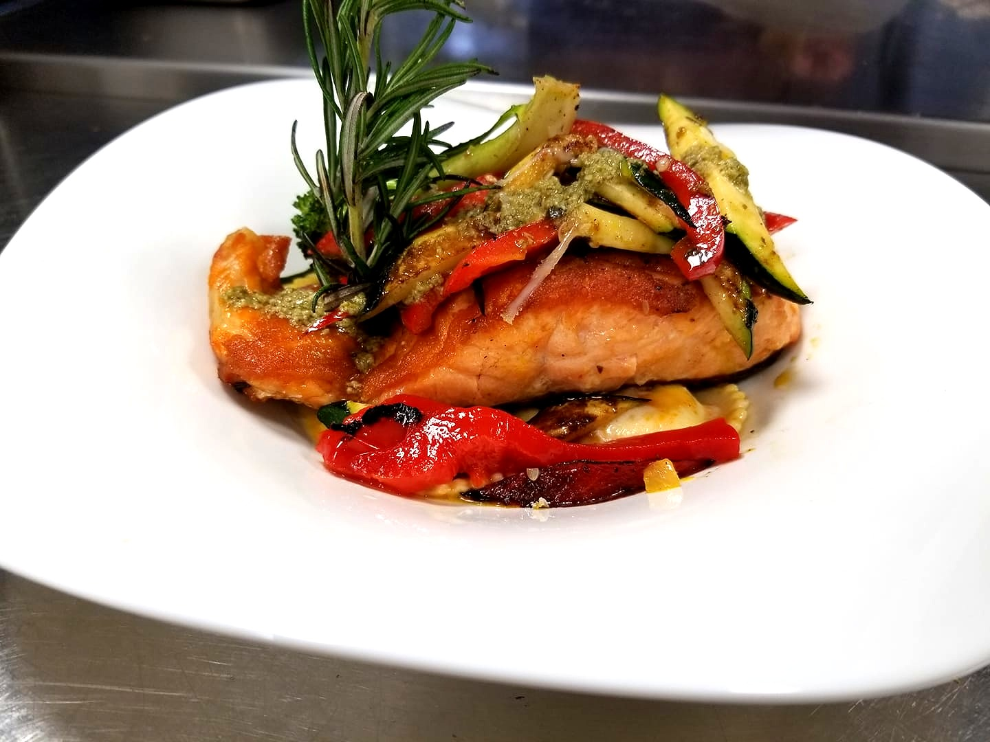 Pan-Roasted Sockeye Salmon Romesco