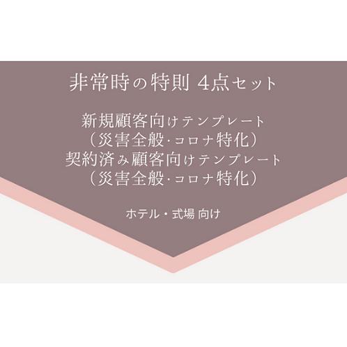 「非常時の特則」セット