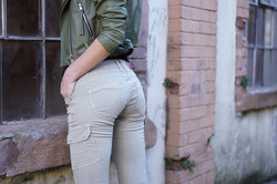 Lost in Paradise Jeans Kathy Cargo olive Rückseite