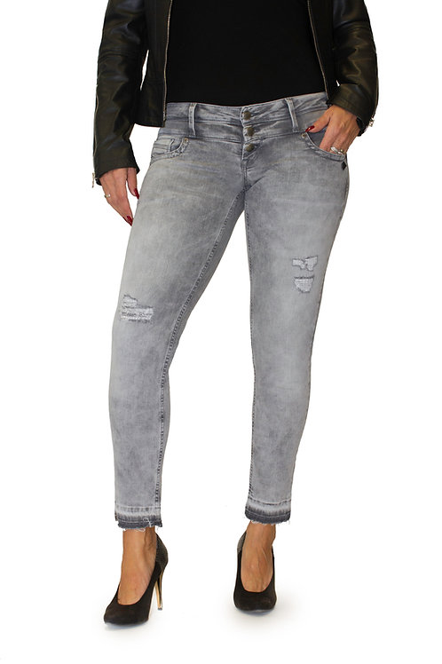 Lost in Paradise Celina Ankle cropped grey destroyed