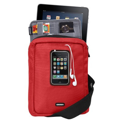 """Cocoon Gramercy - Messenger Sling  Apple iPad/10"""" Tablets CGB150 ( Red )"""
