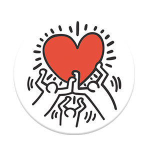 PopSockets -Keith Haring ( 3 Person Holding A Heart )