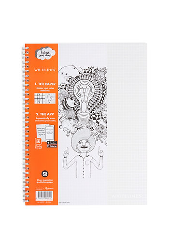 Whitelines Link Notebook A4 Squared