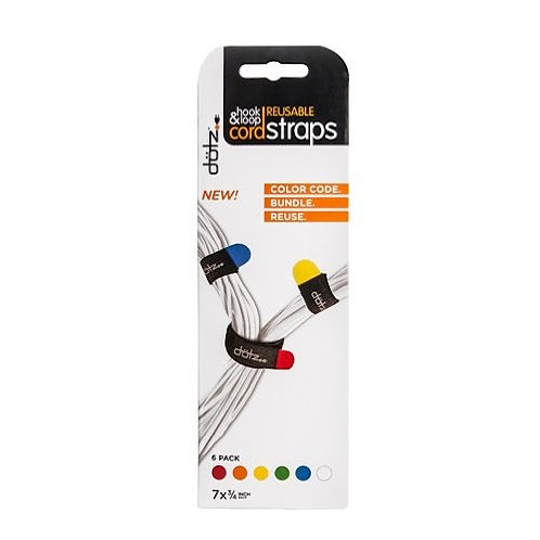 Dotz Reusable Hook & Loop Cord straps - 5 in a pack