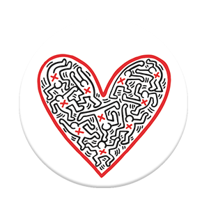 Popsocket -Keith Haring ( Figures in A Heart )