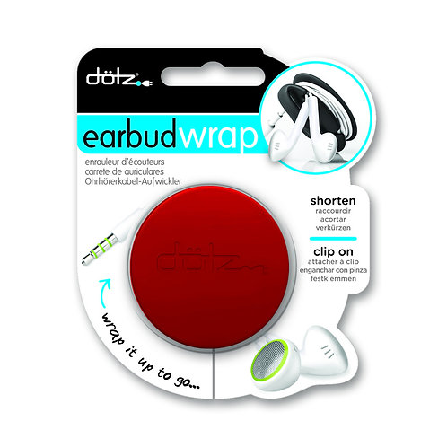 Dotz - Ear bud Wrap ( Red )