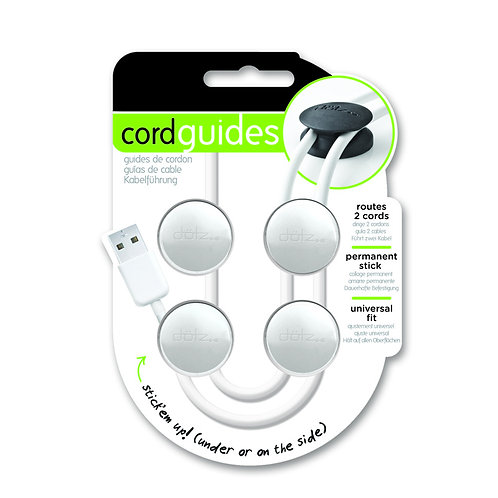 Dotz Cord Guides  ( 4 in a pack , white )