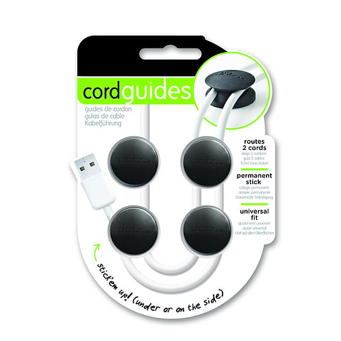 Dotz Cord Guides  ( 4 in a pack , Black )