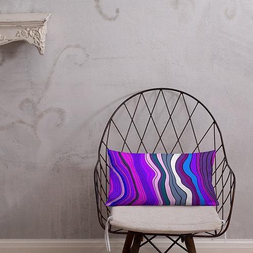 Purple Multicolor Stripe Premium Pillow