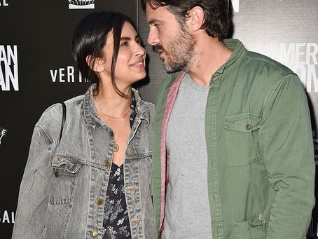 Casey Affleck and girlfriend Floriana at American Woman Premiere