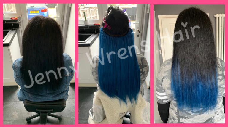 "22"" La Weave in colour blue"