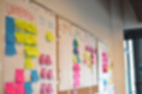 Kanban board of agile methodology with u