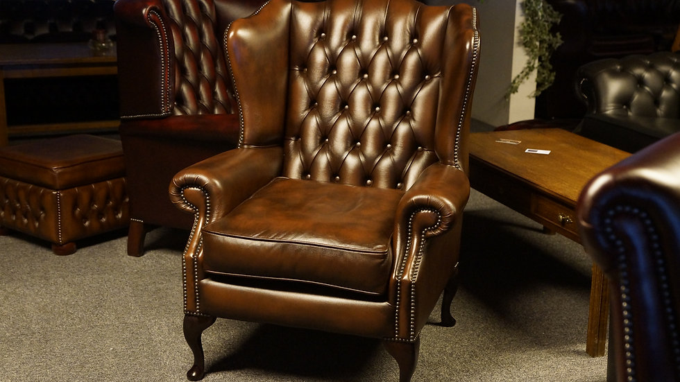 Classic Chesterfield Wing Chair